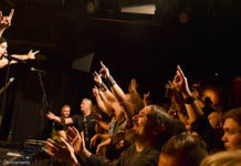 Picture of Bloodbound in concert with pictures by Lennart Håård