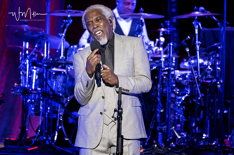 Picture of Billy Ocean in concert by England concert photographer Warren Millar