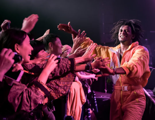Picture of Con Brio in concert with soul music photography by Laura Cooper