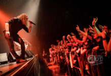 Picture of Angra in concert by Heavy metal concert photographer Aki Fujita Taguchi