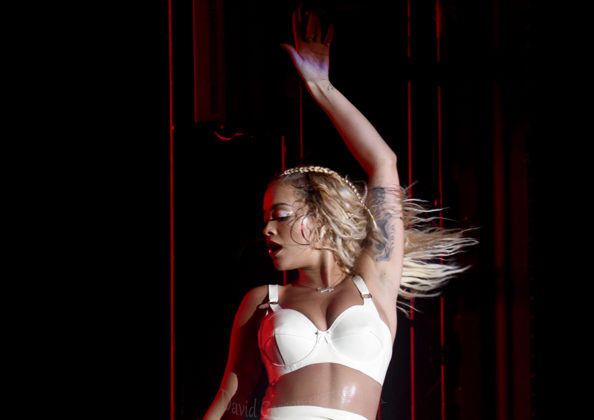 Picture of Rita Ora in concert with Concert and festival photography by David Gasson