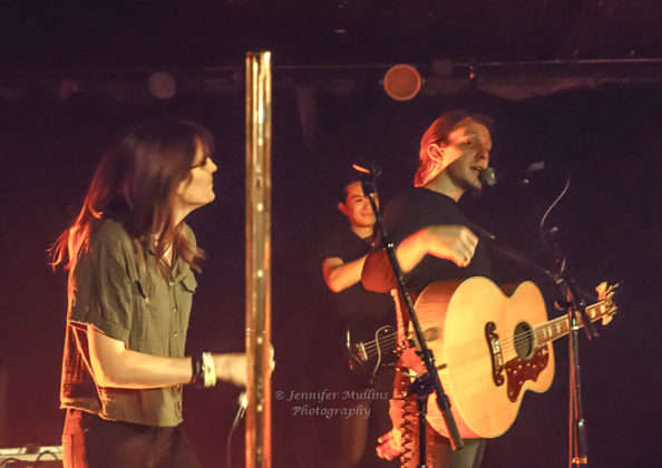 Picture of Luxxe in concert with Americana music photography by Jennifer Mullins