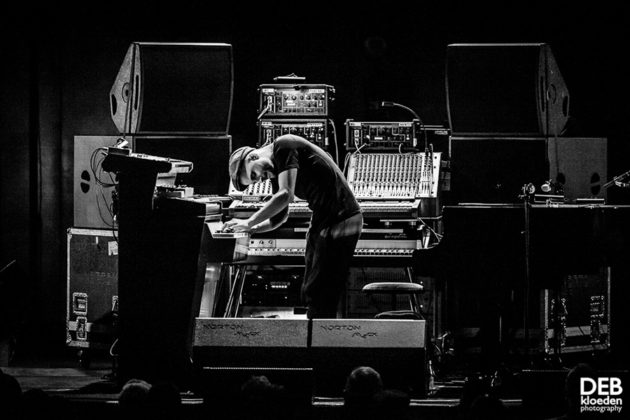 Picture of Nils Frahm in concert by Australia music photographer Deb Kloeden