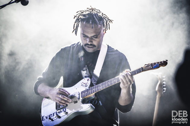 Picture of Gang of Youths in concert by Australia music photographer Deb Kloeden