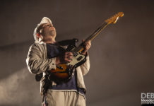 Picture of DMA'S in concert by Australia music photographer Deb Kloeden