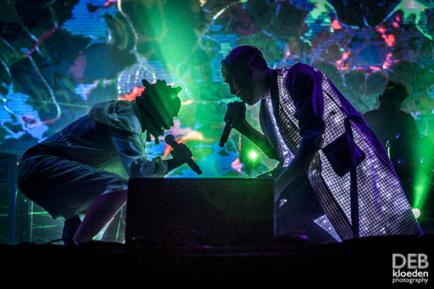 Picture of Pnau in concert by Australia music photographer Deb Kloeden
