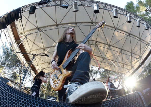 Picture of Mechanical God Creation in concert by Croatian Music and Pit photographer David Gasson