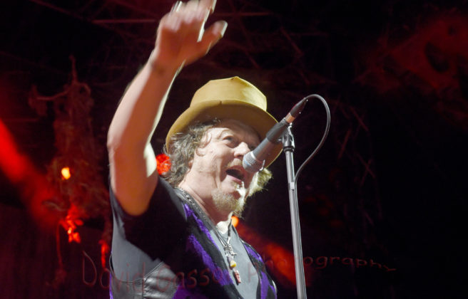 Picture of Zucchero in concert by the blues music photographer David Gasson