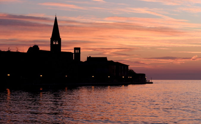 Picture of the sunset in Porec