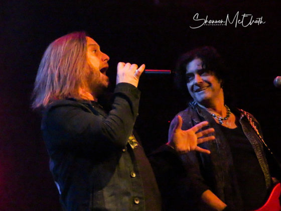 Picture of Last In Line in concert in Houston by music photographer Shannon McElrath