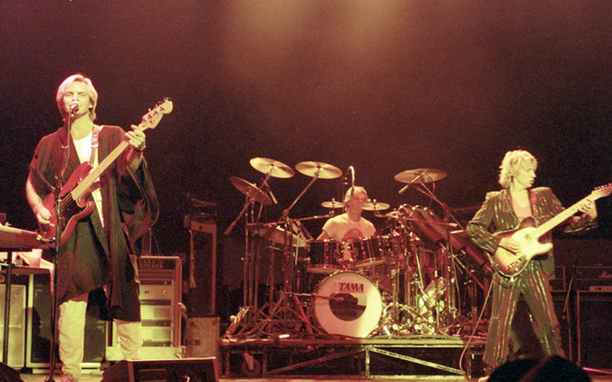Picture of The Police in concert by Bill O'Leary