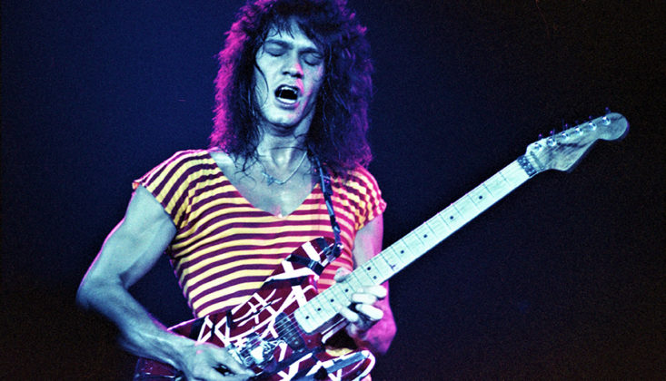 Picture of Van Halen in concert in analog taken by music photographer Bill O'Leary