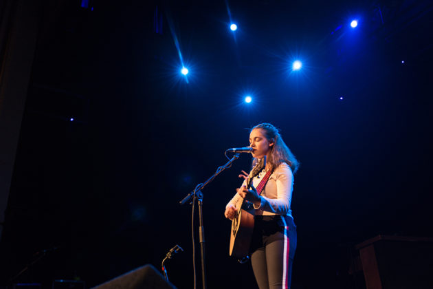 Picture of Allie Sherlock in concert by Ireland music photographer Danni Fro