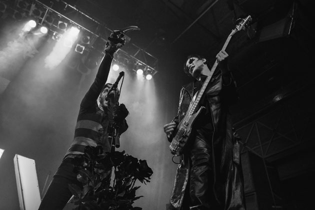 Picture of the Metalcore band Ice Nine Kills in concert taken by the music photographer Vivian Danielle