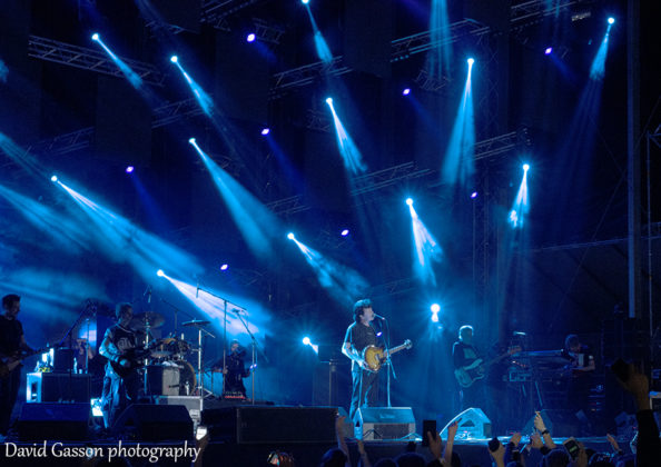 Picture of the rock band Bajaga i Instruktori in concert at the Sea Star festival in Croatia with photography by David Gasson