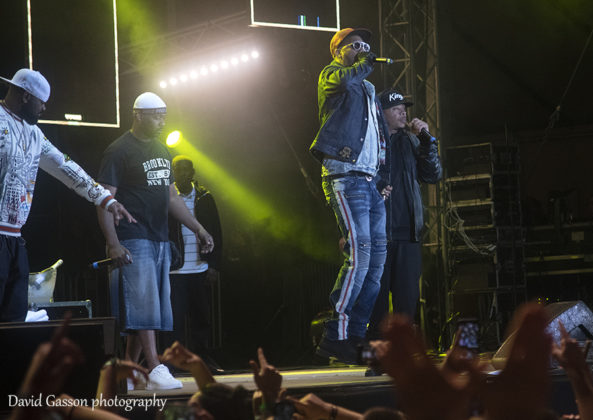 Picture of the Hip Hop band Wu-Tang Clan in concert in Croatia taken by festival photographer David Gasson