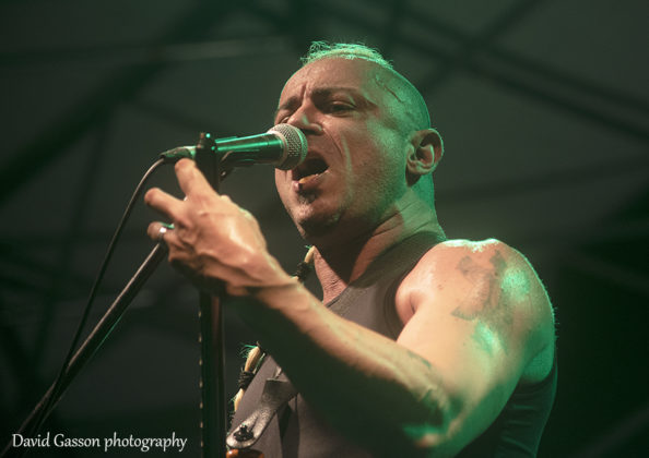 Picture of the heavy metal band Pestilence in concert by David Gasson