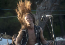 Picture of the heavy metal band Lionmane at the GoatHell metal fest concert with photography by David Gasson