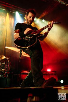Picture of the rock band Godsmack in concert taken by Stan Srebar