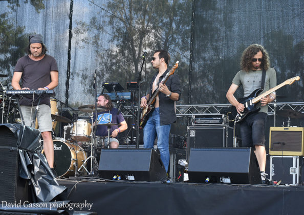 Picture of the pop rock band Mel Camino in concert at the INmusic festival with photography by David Gasson