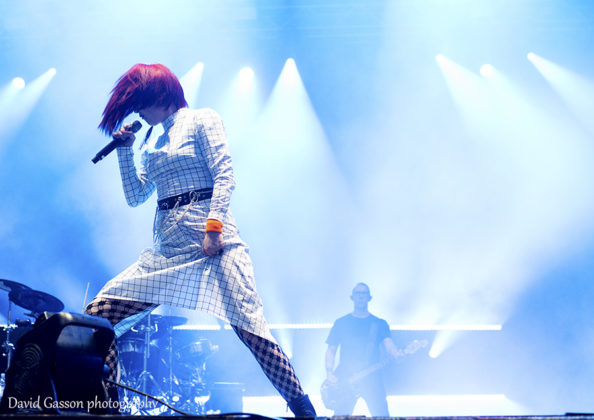 Picture of the indie rock band Garbage in concert at the INmusic festival in Croatia by David Gasson