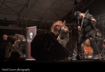 Picture of the melodic heavy metal band Angelcrypt in concert taken by David Gasson
