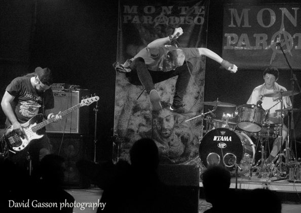 Picture of the hardcore punk band Fried Brain in concert at the pula punk festival by David Gasson