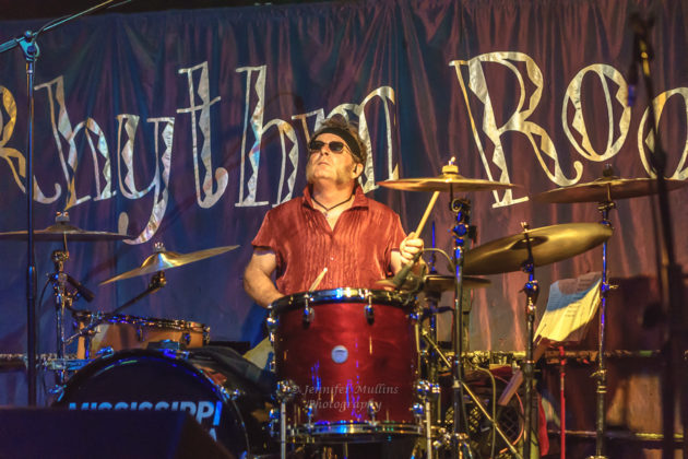 Picture of the southern rock band Mississippi Nova in concert taken by Jennifer Mullins
