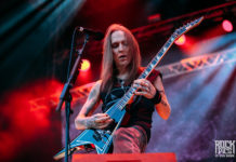 Picture of the extreme heavy metal band Children of Bodom in concert taken by Stan Srebar