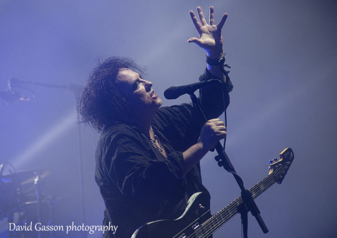 Picture of The Cure in concert at a festival in Zagreb taken by David Gasson
