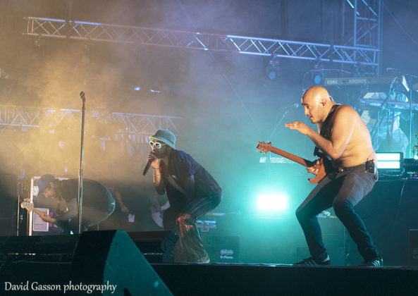 Picture of the band Anderson Paak & The Free Nationals in concert taken by music photographer David Gasson