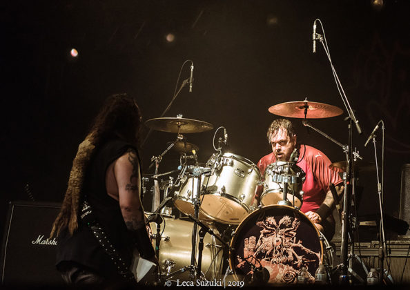Picture of the heavy metal band Cavalera Conspiracy in concert taken by Leca Suzuki