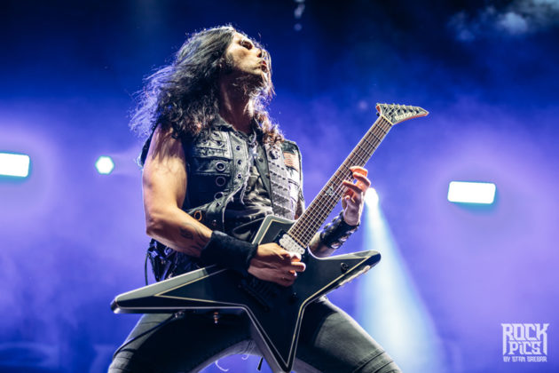 Picture of the power heavy metal band Firewind in concert taken by Stan Srebar