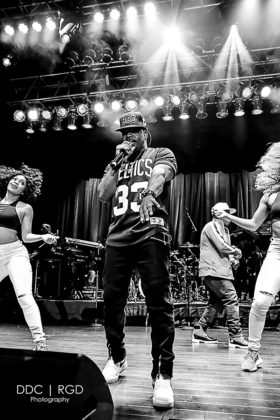 Picture of the R&B band Bell Biv DeVoe in concert taken by Dee Carter