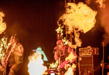 Picture of the black metal band Nordjevel in concert taken by Lacin Temocin