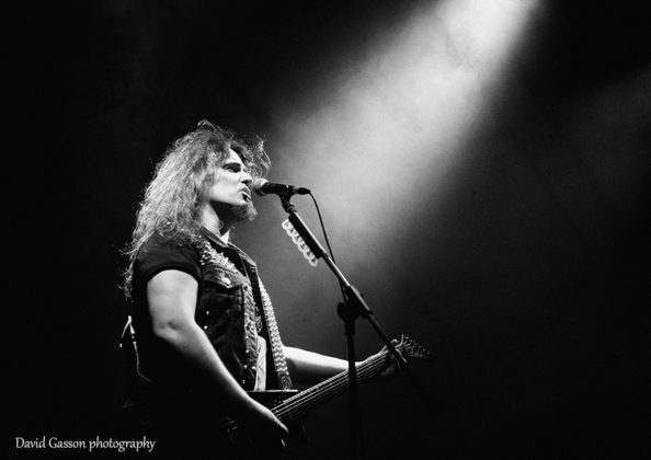 Picture of the thrash metal band Destruction in concert taken by David Gasson