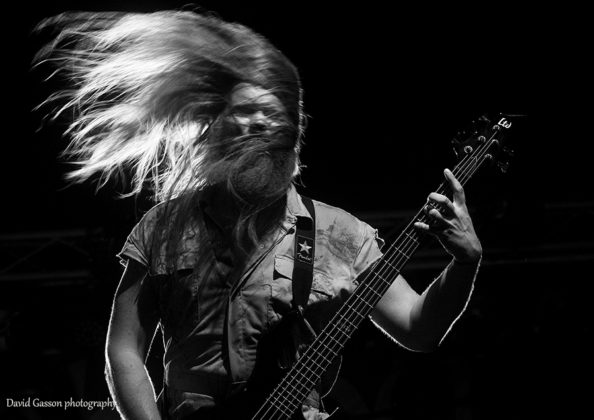 Picture of the death metal band Bloodphemy in concert taken by festival photographer David Gasson