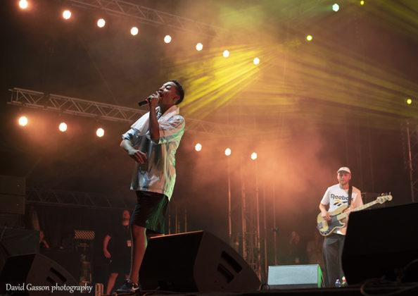 Picture of the hip hop singer Loyle Carner in concert taken by David Gasson