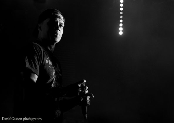 Picture of hip hop dj Shy FX in concert taken by David Gasson
