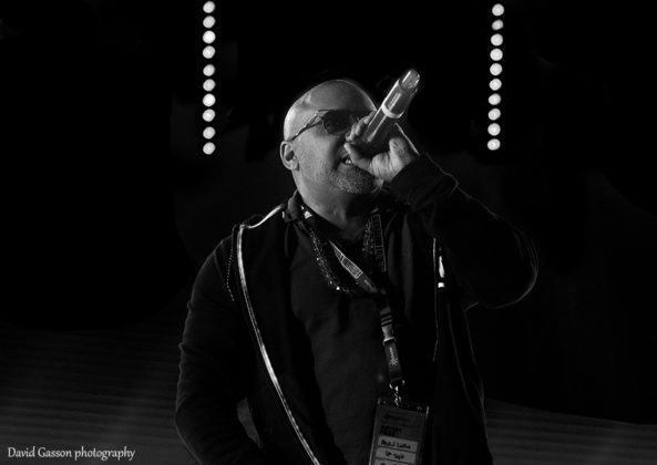 Picture of the singer UK Apache in concert taken by David Gasson