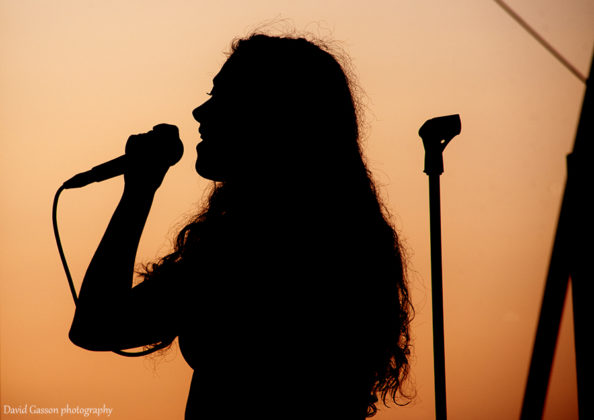 Picture of the pop singer Eliza in concert a festival in Croatia by David Gasson
