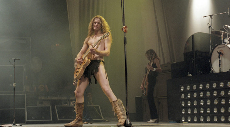 Picture of Ted Nugent in concert taken in analog at 1980 concert by Bill O'Leary