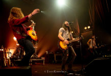 Picture of the rock group Them Dirty Roses in concert by Trees Rommelaere