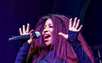 Picture of Chaka Khan in concert by Ruth Preston
