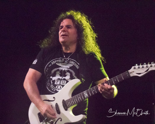 Picture of the heavy metal band UFO in concert taken by Shannon McElrath