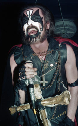 Picture of the heavy metal band King Diamond in concert taken by Bill O'Leary