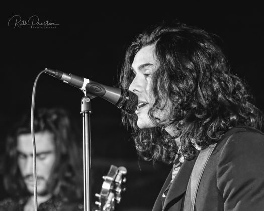 Picture of the Rock n' Roll band The Jacks in concert taken by Ruth Preston