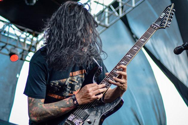 Picture of the heavy metal band Beside in concert taken by Kiky Rizkal