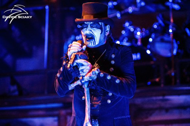 Picture of the band King Diamond in concert taken by Davide Sciaky