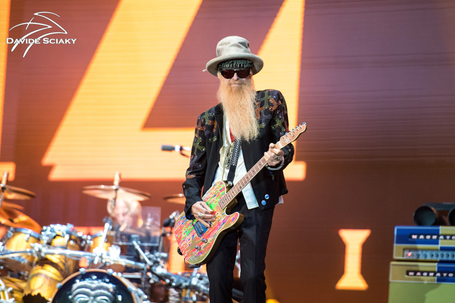 Picture of the band ZZ Top in concert taken by Davide Sciaky